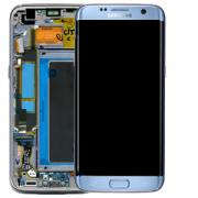 Samsung Samsung Galaxy S7 Edge Skärm med LCD-display, Blå - Original