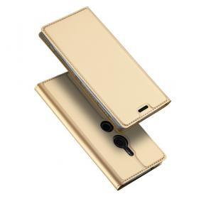 SiGN SiGN Skin Pro Plånboksfodral till Sony Xperia XZ3 - Guld