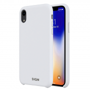 SiGN SiGN Liquid Silicone Case för iPhone XR - Vit