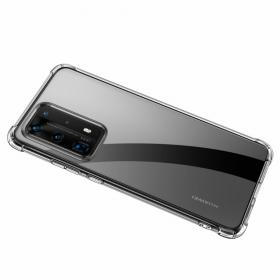 Taltech LEEU DESIGN Shock-proof TPU Skal för Huawei P40 Pro - Transparent