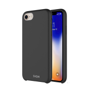 SiGN SiGN Liquid Silicone Case för iPhone 7 & 8 - Svart