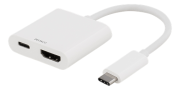 Deltaco USB-C till HDMI Adapter, UltraHD - Vit
