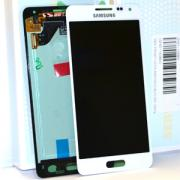 Samsung Samsung Galaxy Alpha Skärm med LCD-display, Vit - Original
