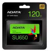 Adata Ultimate SU650 SSD, 120GB - Svart
