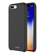 SiGN SiGN Liquid Silicone Case för iPhone 7 & 8 Plus - Svart