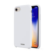 SiGN SiGN Liquid Silicone Case för iPhone 7 & 8 - Vit