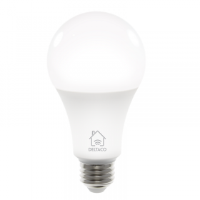 DELTACO Deltaco Smart Home LED-lampa E27, WiFi Dimbar - Vit
