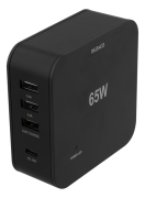DELTACO Deltaco 65W Laddare, USB-C PD, Snabbladdning, MacBook Air, iPhone m.fl. - Svart