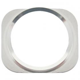 iPhone 5S Vit Hemknapp med silver ring