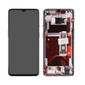 OnePlus OnePlus 7T Skärm med LCD Display - Frosted Silver