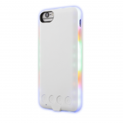 EPZI Epzi Mcase Flash Skal för iPhone 6-6s-7-8 med LED Lampor - Vit