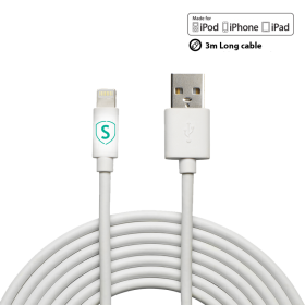 SiGN SiGN Lightning-kabel till iPhone / iPad, MFi-certifierad - 3 m