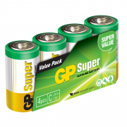 GP Batteries GP Super Alkaline C Batteri LR14, 1,5V 4-pack