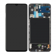 Samsung Samsung Galaxy A70 Skärm LCD-display - Original - Svart