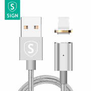 SiGN SiGN Magnetkabel Lightning 2.4A 1 m - Silver