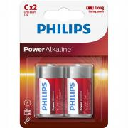 Philips Philips Power Alkaline C Batteri LR14 1,5V 2-pack