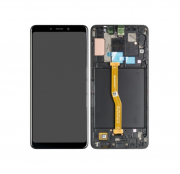 Samsung Galaxy A9 (2018) Skärm LCD display - Svart