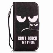 Taltech Plånboksfodral till iPhone 7 & 8 - Don't touch my phone""