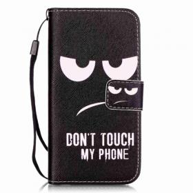 """Taltech Plånboksfodral till iPhone 7 & 8/SE 2 - Don't touch my phone"""""""