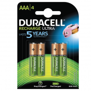 DURACELL Duracell Recharge Ultra Laddningsbara AAA Batterier 900mAh, 4-pack