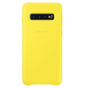 Samsung Samsung Leather Cover för Samsung Galaxy S10 - Gul