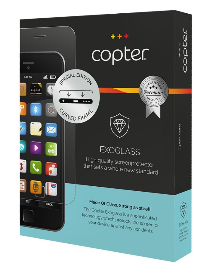 Copter Exoglass Curved Frame för iPhone 7/8 Plus - Vit