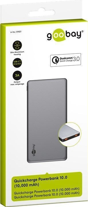 goobay Goobay Quick Charge Powerbank 10.0 - 10000 mAh