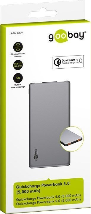 goobay Goobay Quick Charge Powerbank 5.0 - 5000 mAh