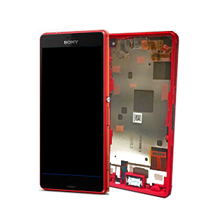 Xperia Z3 Compact Skärm LCD-Display med ram, Orange